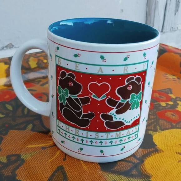 VINTAGE COFFEE MUG BEAR CHRISTMAS